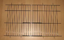 "2 x BLACK CANARY / PARAKEET CAGE / CARRY UNI CAGE FRONTS 16"" x 10"" - WADES"
